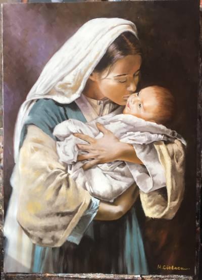 Picturi cu potrete/nuduri sarutul mamei