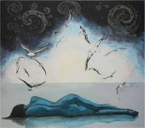 Picturi cu potrete/nuduri Vis cu albatro