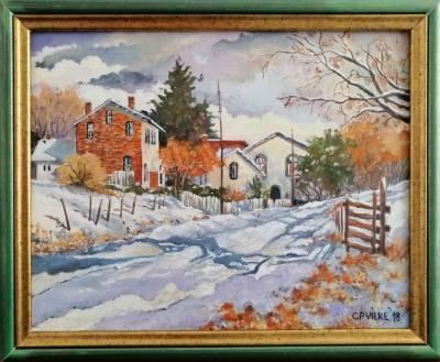 Picturi de iarna Acasa la prima zapada