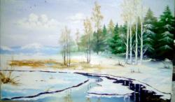 Picturi de iarna Iarna in padurea de bra
