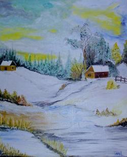 "Picturi de iarna ""Prima zapada"""
