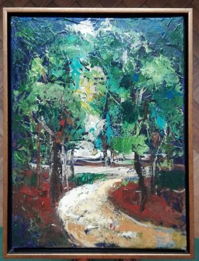 Picturi de primavara invitatie in parc