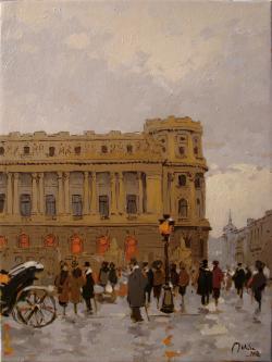Picturi de primavara Prin vechiul Bucure