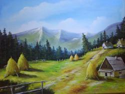 Picturi de toamna Catun toamna. Satul ro