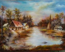 Picturi de toamna lacul de la marginea p