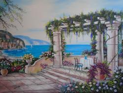 Picturi de vara Peisaj de vara Mediteran