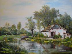 Picturi de vara Peisaj rustic o noua zi