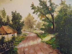 Picturi de vara Peisaj rustic... Drumuri