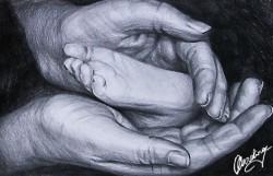 Picturi in creion / carbune Dragostea de
