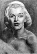 Picturi in creion / carbune Marilyn monr
