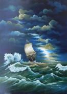 Picturi maritime navale Corabie in sfars