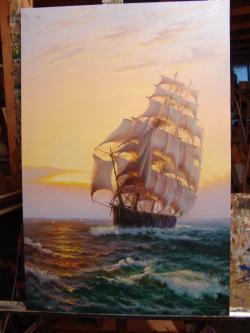 Picturi maritime navale Croaziera in Tim