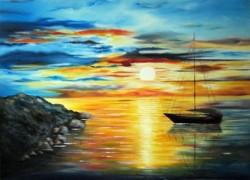 Picturi maritime navale Inca o zi,  inca