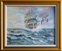 Picturi maritime navale Pe valurile mari