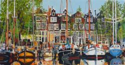 Picturi maritime navale Peisaj din Amste