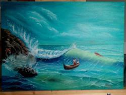 Picturi maritime navale Pescarii si mare