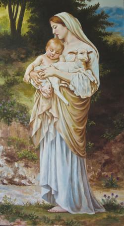 Picturi religioase Femee cu copil si edu
