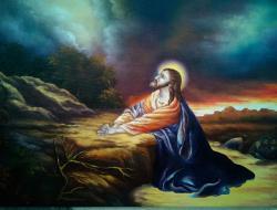 Picturi religioase rugaciune in gradina