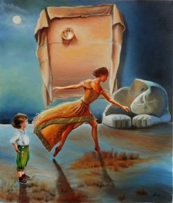 Picturi surrealism Between myth and real
