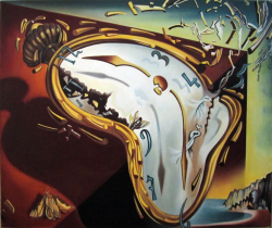 Picturi surrealism Clock explosion - Rep