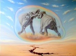 Picturi surrealism The battle of the gia
