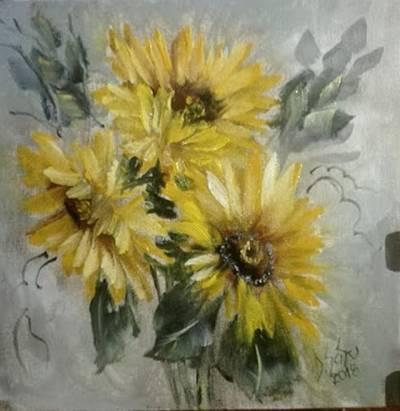 Poza 3 flori din soare