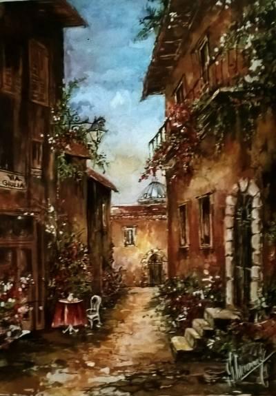 Poza Acuarela  Toscana
