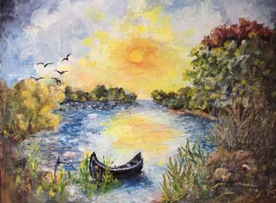 Poza Amurg in Delta Dunarii