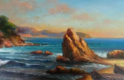 Poza asfintit pe mare 1