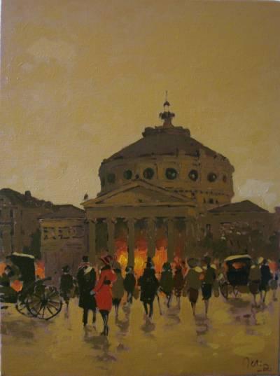 Poza Ateneul Bucurestiului vechi, seara