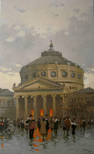 Poza Ateneul din Bucurestiul vechi