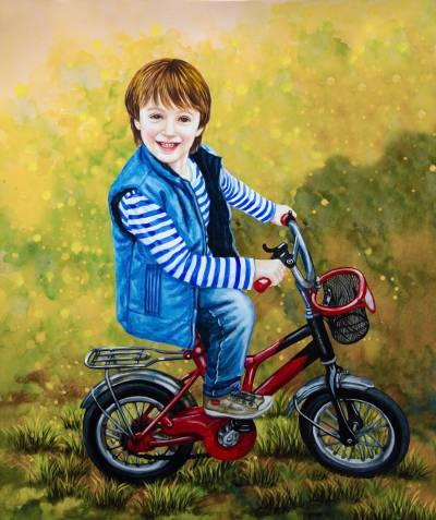 Poza Băiețelul pe bicicletă