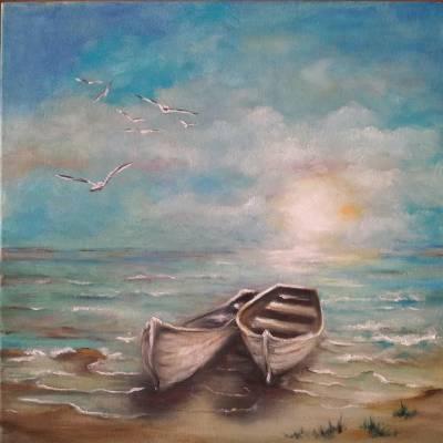 Poza Barci pe plaja