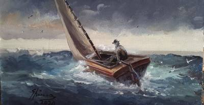 Poza Batranul si marea