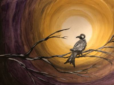 Poza bird on the branch