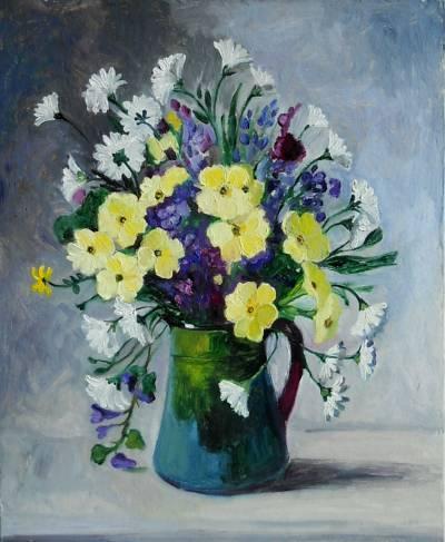 Poza borcanel cu floricele de vara