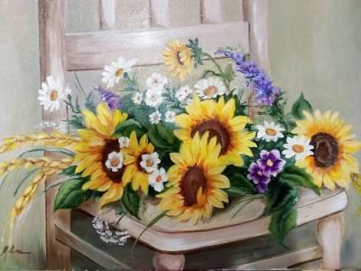 Poza Buchet cu floarea soarelui
