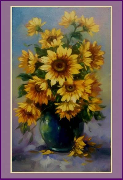 Poza buchet de floarea soarelui 6