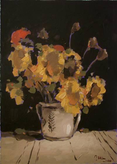 Poza Cana cu floarea soarelui si maci,ul