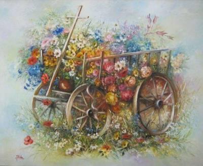 Poza Carul cu flori