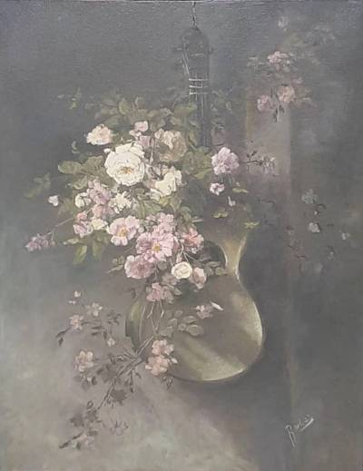 Poza Chitara  si trandafiri
