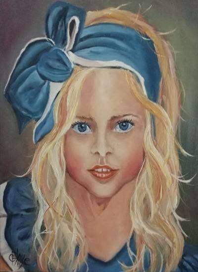 Poza Copila in albastru