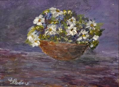 Poza Coș cu flori de vară