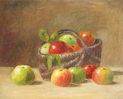 Poza cosulet cu mere