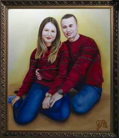 Poza Cuplu in haine rosii