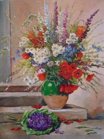 Poza Decor cu flori de camp ....