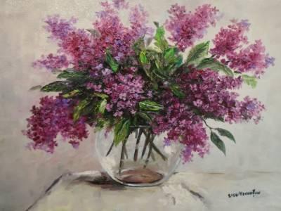 Poza Decor cu flori de liliac 5 ...