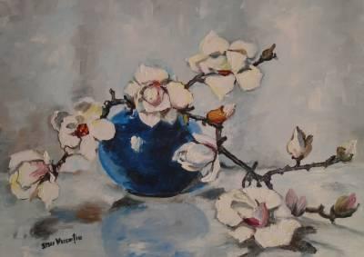 Poza Decor cu flori de magnolie ....