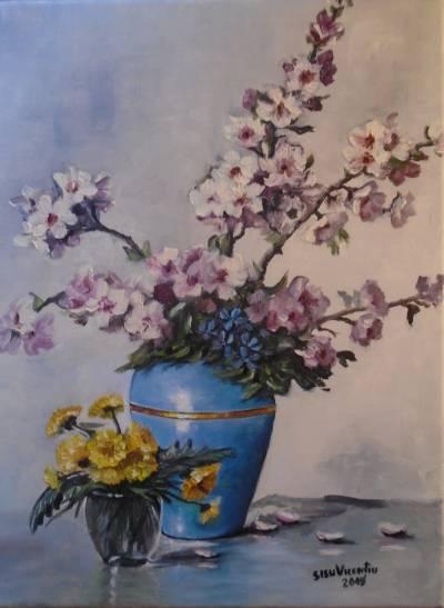 Poza Decor cu flori de primavara .....