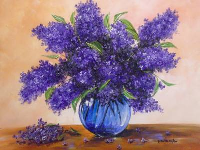 Poza Decor flori liliac .7..